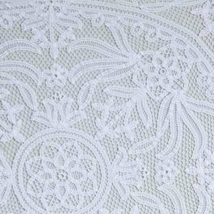 Tablecloth, White Battenburg Lace