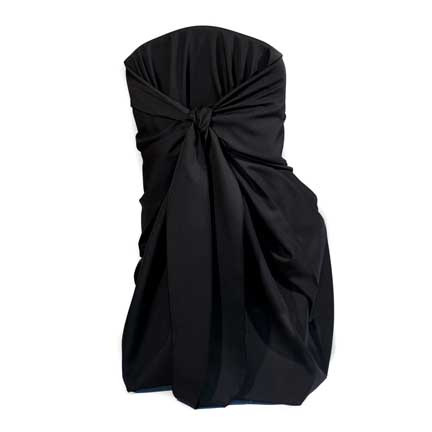 Chair Cover, Black Poly Bag Style