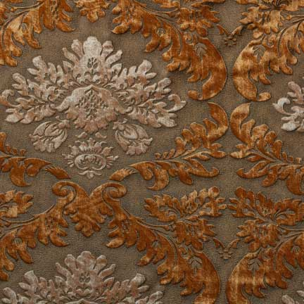 Tablecloth boutique collection velvet damask amber