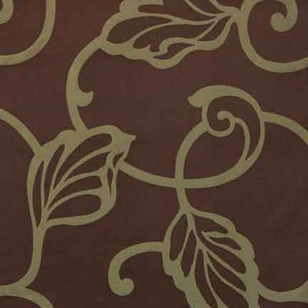 Napkin, Brown with Green Swirl