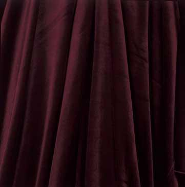 Tablecloth, Velvet - Burgundy