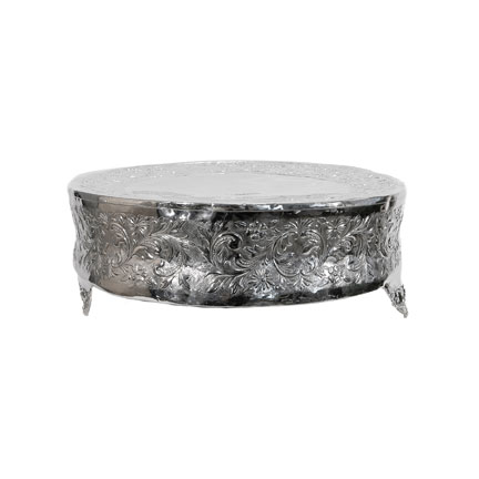 Cake Plateau - Silver Round
