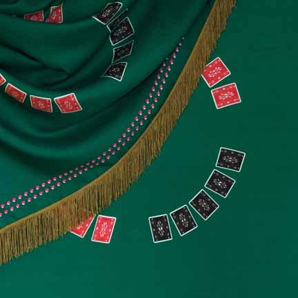Tablecloth, Casino with Gold Fringe