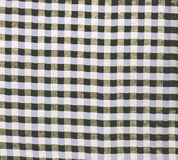 Tablecloth, Cocktail Plaid - Black and White