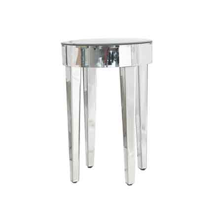 Furnishings Mirror Martini Table Round