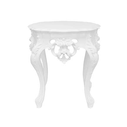 White Side Tables white side table furnishings rental for your wedding, party, or