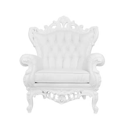 Captivating Furnishings, White Wingback Chair