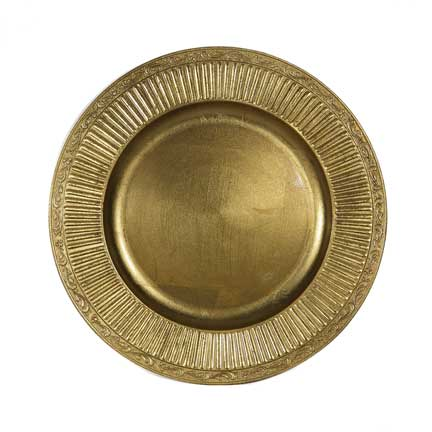 Charger Plate, Gold Acrylic