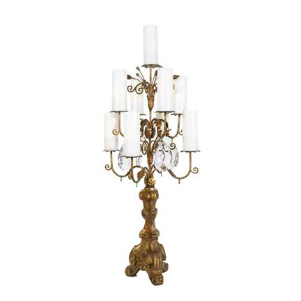Gold French Candelabra