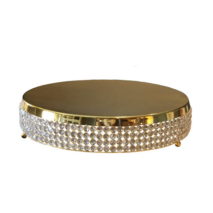 Cake Plateau - Gold Crystal Pave