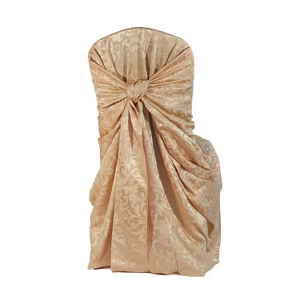 Chair Cover, Gold Essence Damask Bag Style