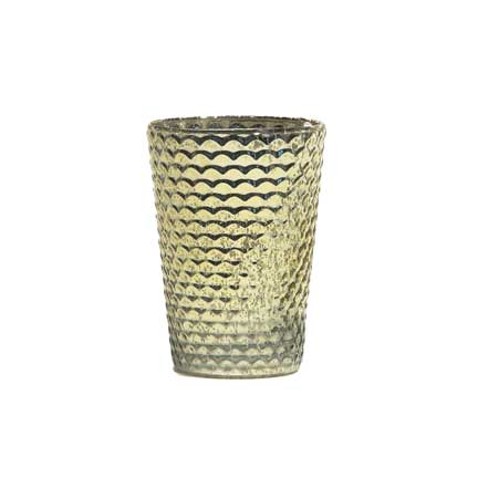 Honeycomb Votive - Gold
