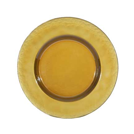 Charger Plate, Glass Gold Luster