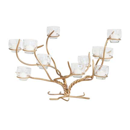 Iron Branch Candelabra - Gold