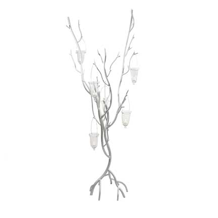 Iron Centerpiece Holder - Silver Tree