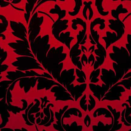 Tablecloth, Italia Black on Red