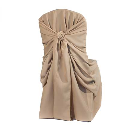 Chair Cover, Khaki Poly Bag Style