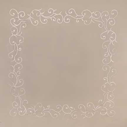 Tablecloth, Laura's Ivory Embroidered Sheer