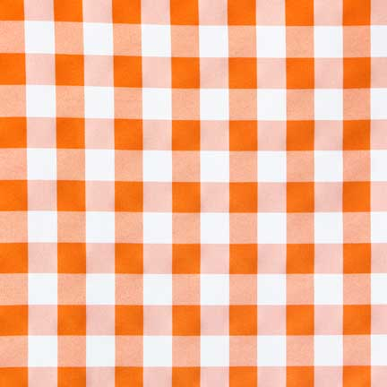 Orange Gingham Tablecloth Rental For Your Wedding Party