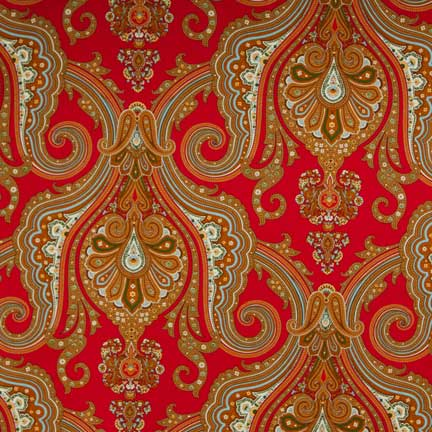 Tablecloth, Paisley - Red
