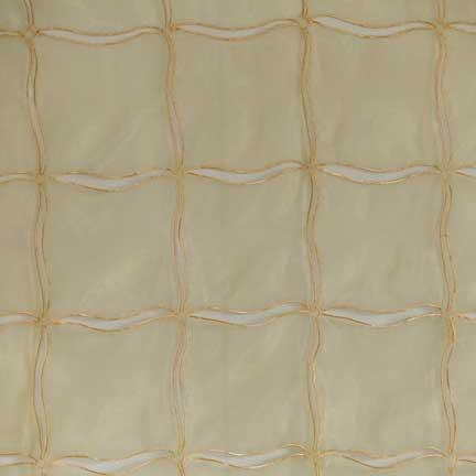 Tablecloth, Peek-a-Boo Sheer with Border - Gold