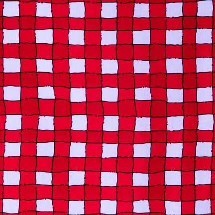 Tablecloth, Red and White Ribbon Check
