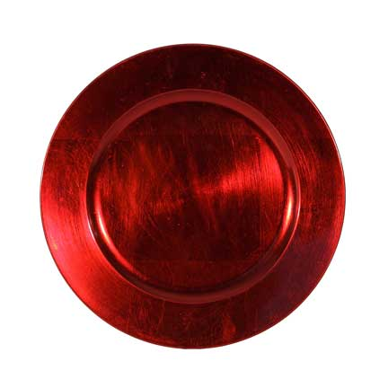 Charger Plate, Red Acrylic