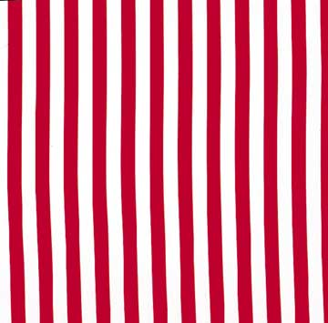 Tablecloth, Red And White Stripe