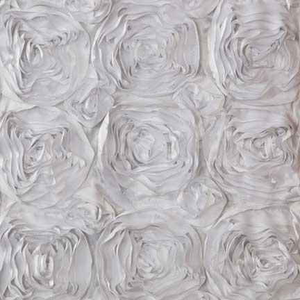Tablecloth, Ribbon Rose White