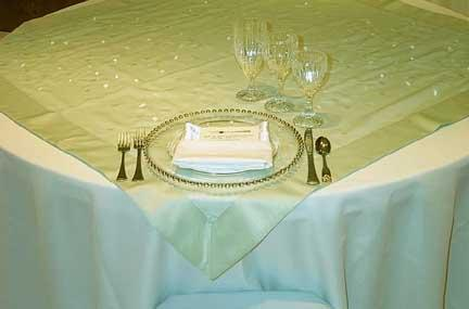 Tablecloth, Sage Embroidered Sheer