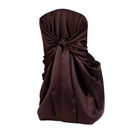 Chair Cover, Satin - Chocolate Bag Style