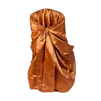 Chair Cover, Satin - Copper Bag Style