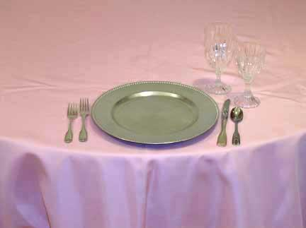 Tablecloth, Satin - Pink