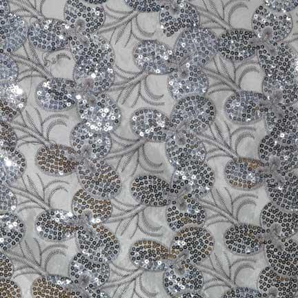Tablecloth, Sequin - White Deco