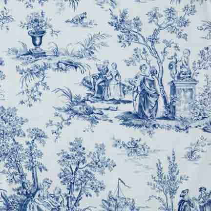 Tablecloth, Toile - Blue