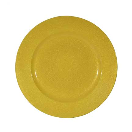 Charger Plate, Yellow Acrylic