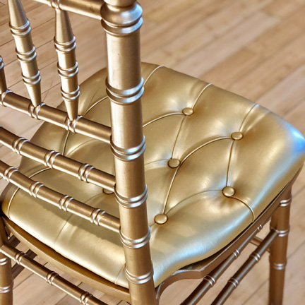 Chair Pad, Gold Tufted