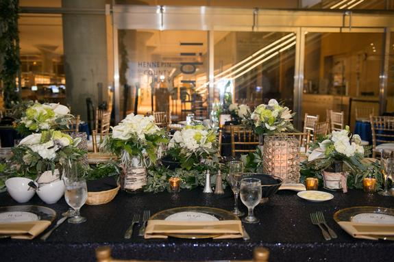 Mesmerizing Midnight Blue And Gold Wedding The